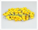 Crimp Terminals | Insulated Yellow Male Bullet Terminals 2.5 - 6.0mm² | 100 Pcs